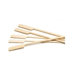 """Bâton A Brochette/Amuse-Bouche, Bambou, Modèle """"Rame"""", 15 CM, 100/Pq"""