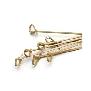 Bâton A Brochette/Amuse-Bouche, Bambou, Modèle A Nœud, 10 CM, 100/Pq