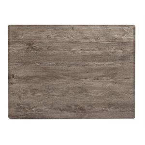Dessus de table, melamine chêne vieilli de 24 x 32po