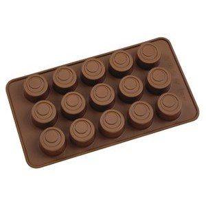 Moule A Pâtisserie (Chocolat) En Silicone, Rond, 15 Fentes