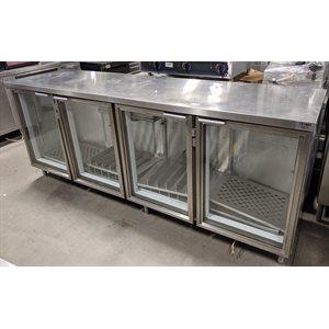 Réfrigérateur de bar à 4 portes en verres Astor usagé
