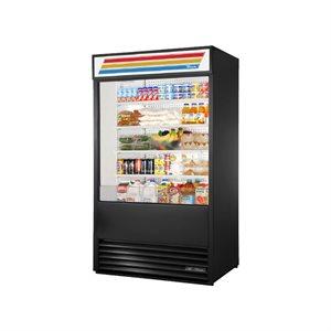 """Réfrigérateur A Rideau Ouvert, Noir, 48 X 30.13 X 80.63 Po, """"True"""""""