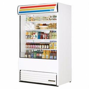 """Réfrigérateur A Rideau Ouvert, Blanc, 48 X 30.13 X 80.63 Po, """"True"""""""