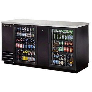 Réfrigérateur De Bar, Porte En Verre, Noir, 69 1/8 X 27.5 X 37 Po