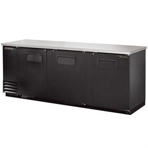 Réfrigérateur D'arrière Bar, 3 Portes, Noir, 90 Po En Longueur