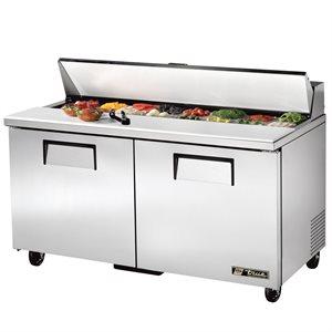 Table De Préparation Réfrigérée, 2 Portes/16 Cabinets, 60 X 30 X 36.75 Po